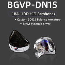 NEW BGVP DN1s 1DD+1BA Hybrid In ear Earphones HIFI Music DI Earphones Detachable MMCX DMS DM7 DM6 DH3 DX3 DX5 DH3 ZSN DT6 PRO T3