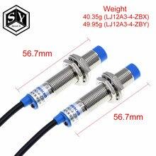 Great it 1 pces LJ12A3-4-Z/bx LJ12A3-4-Z/pelo novo interruptor de detecção de sensor de proximidade indutivo npn dc 6-36v para arduino