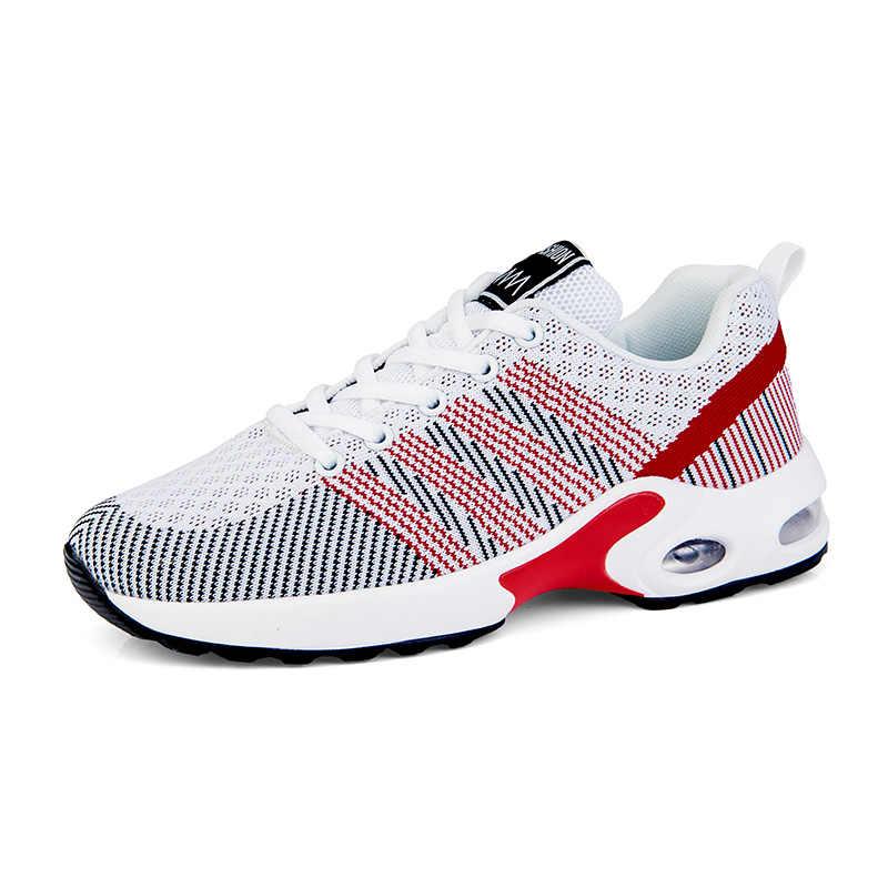 2019 moda Tenis ayakkabı hava yastığı örgü şok Sneakers spor hafif spor koşu kadın ayakkabısı Tenis Feminino