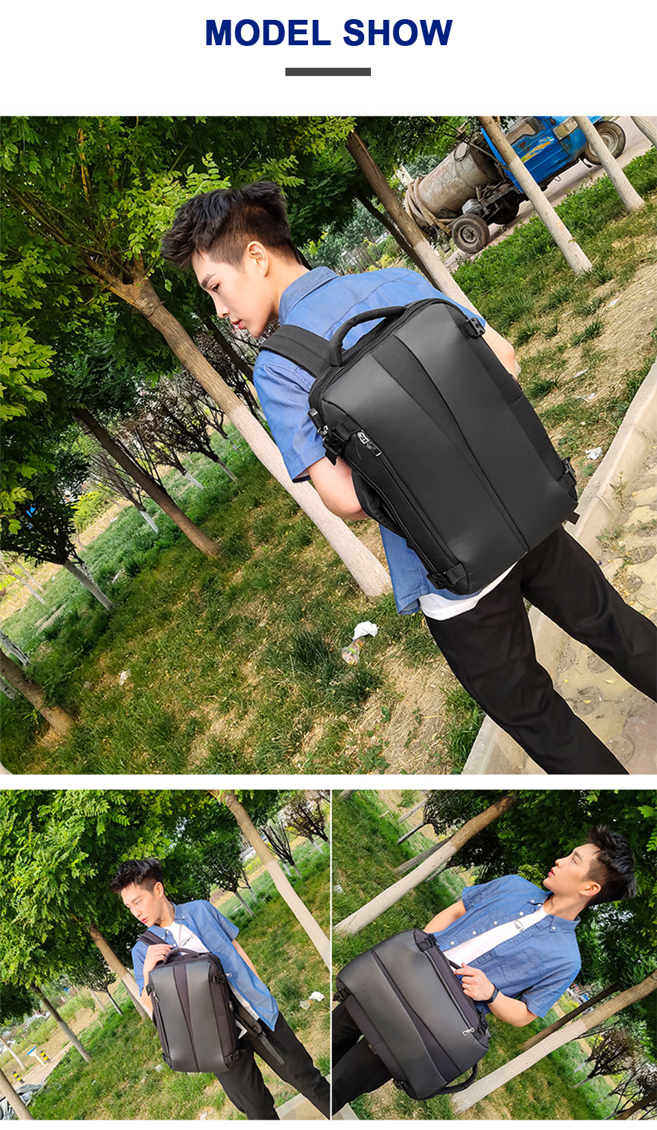 Men Backpack Anti Theft Travel Bagpack Laptop 15.6 Inch Notebook Waterproof Bags USB Charging Male Business Fashion Unisex Bag (9)
