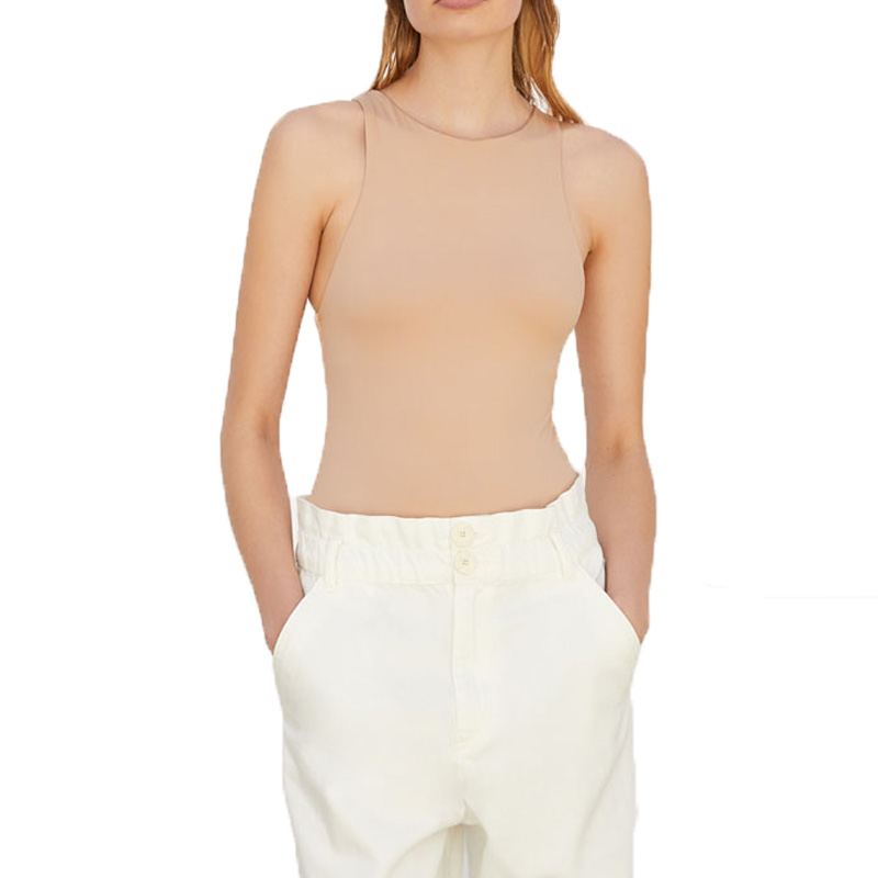 Summer 2020 Casual Khaki Rompers Womens Jumpsuit Sleeveless Womens Clothing Tight Bodysuit Women