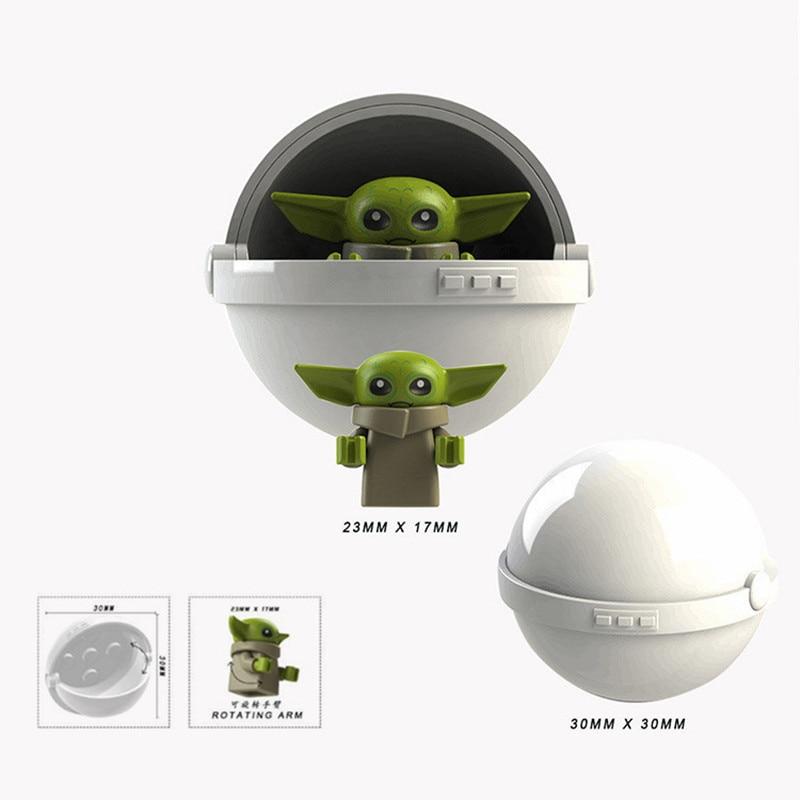 Toys Building-Blocks Starwars Mandalorian Baby Yoda Naves 9-Kylo Rise of Rened