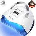 Dmoley УФ светодиодная лампа для сушки ногтей 90 Вт/114 Вт для всех типов геля 45/57 шт. Светодиодная лампа для ногтей новый дизайн маникюрные инстру...