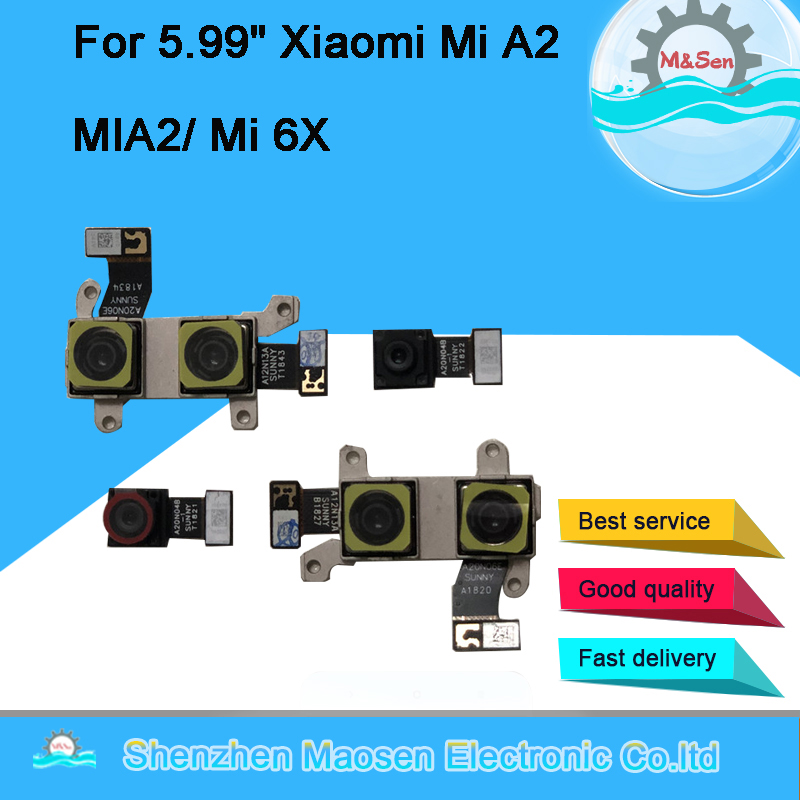 Original M&Sen For Xiaomi Mi A2 MiA2 Rear Back Big Front Camera Module Flex Cable For Xiaomi 6X Mi 6X Mi6X Replacement Parts