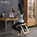 Оригинальный стул на коленях AriceHou, эргономичный стул на коленях с правильной осанкой, стул против близорукости, деревянная мебель для дома ...