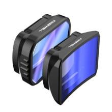 Freewell grande angular & lente anamorfa com filtro nd compatível com bolso 2, bolso osmo
