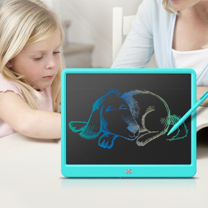 LCD Writing Tablet,15 Inch Colorful Screen Digital Writer Electronic Graphics Tablet Doodle Drawing Pad for Kids Toys Bi 2