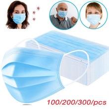 Пылезащитные маски для лица, одноразовые противопылевые маски для защиты от пыли, 3 слоя, нетканые антизапотевающие маски для рта