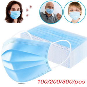 Image 1 - Face Masks Anti dust Mask Disposable Protect 3 Layers Filter Dustproof Earloop Non Woven Anti fog Mouth Masks