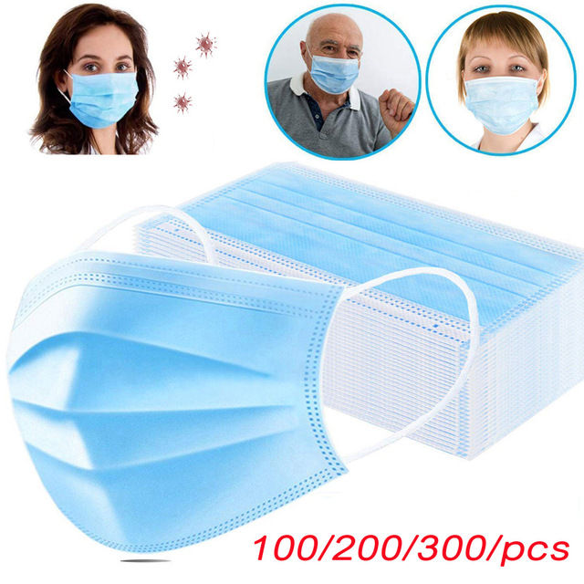 Face Masks Anti dust Mask Disposable Protect 3 Layers Filter Dustproof Earloop Non Woven Anti fog Mouth Masks