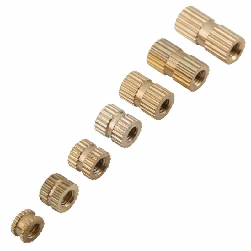 High Quality 150pcs M3 Brass Threaded Heat Insert Knurled Nut Bolt Screw For 3D Printing Metal Set Fastener Hooks Assortment
