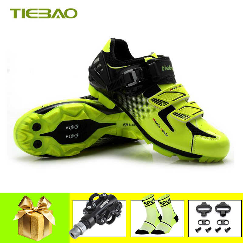 Tiebao Pro cycling shoes mtb spd Pedals mountain bike men women zapatillas ciclismo Self-locking Athletic bicycle Shoes sneakers