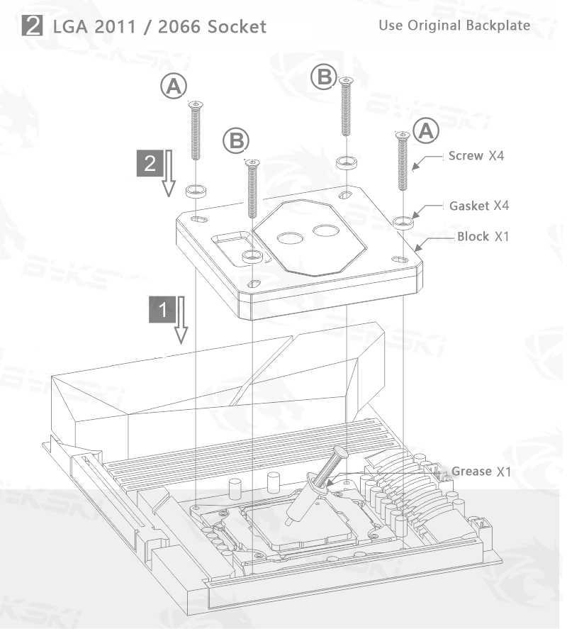 Uso del bloque de agua de la CPU Bykski para INTEL LGA x99-2011 1150 1151 1155 1156 2066 RGB soporte de luz RGB CPU bloque encabezado a la placa base