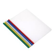 20pcs Sliding Bar File Clamps Transparent Plastic File Folders A4 Paper Organizer Contract File Holder for Office (Random Color)