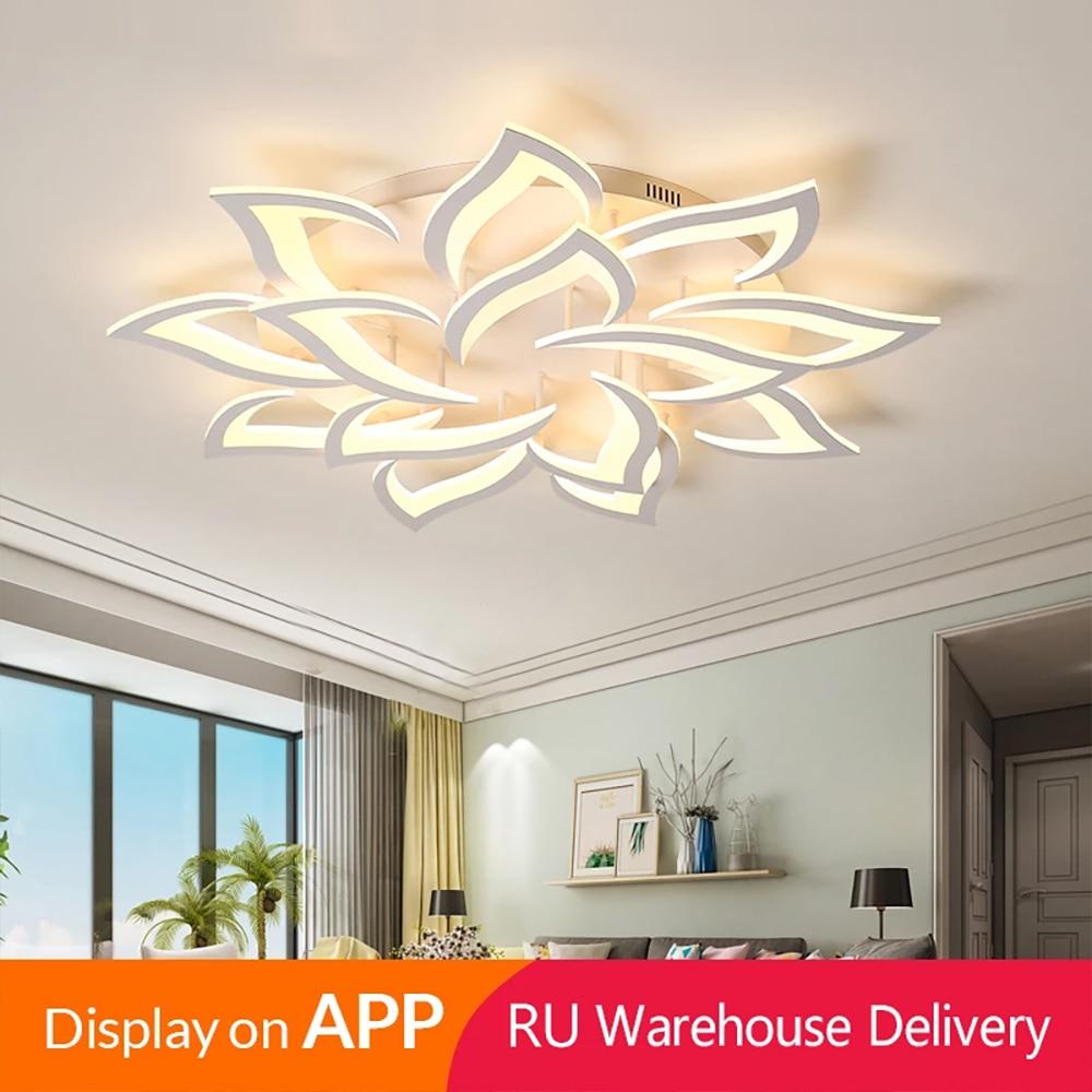 Iralan moderno led luzes de teto para sala estar cozinha quarto kids' lâmpada regulável arte deco luminária com controle remoto