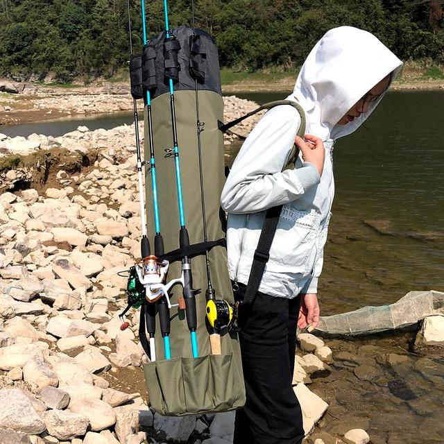 GHOTDA Fishing Tackle Rod Bag Multifunctional Storage Case