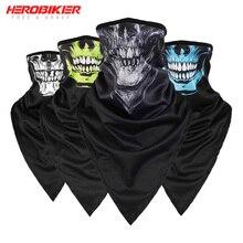 HEROBIKER, новинка, Балаклава, мотоциклетная, мото, защита для лица, дышащая маска, мотоциклетная, многофункциональная, мото, полумаска, Быстросохнущий двигатель
