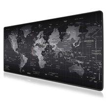 Большой игровой коврик для мыши карта мира геймер Коврик для мыши Противоскользящий коврик Mause коврик для офисного стола большой компьютерный коврик для мыши игровой коврик для клавиатуры