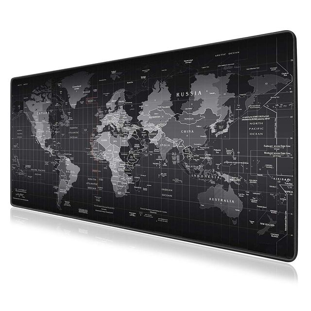 Large Gaming Mouse Pad Gamer World Map Mousepad Anti slip Mause Pad Office Desk Mat Big Computer Mouse Mat Game Keyboard Pad