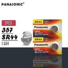 Panasonic – Batteries de montre à oxyde d'argent 11.6x5.4MM 1.55V SR44, 2 pièces, 357 D357H SG13 GP376E, originales, fabriquées au japon