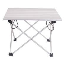 Table pliante Portable en alliage d'aluminium léger, pour l'extérieur, pour Camping, arrière-cour de plage, barbecue, fête, taille