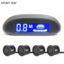 Car Automatic Parktronic LED Parking Sensor with 4 Sensors Reversing Buzzer Detector System Spare Parking Radar Monitor