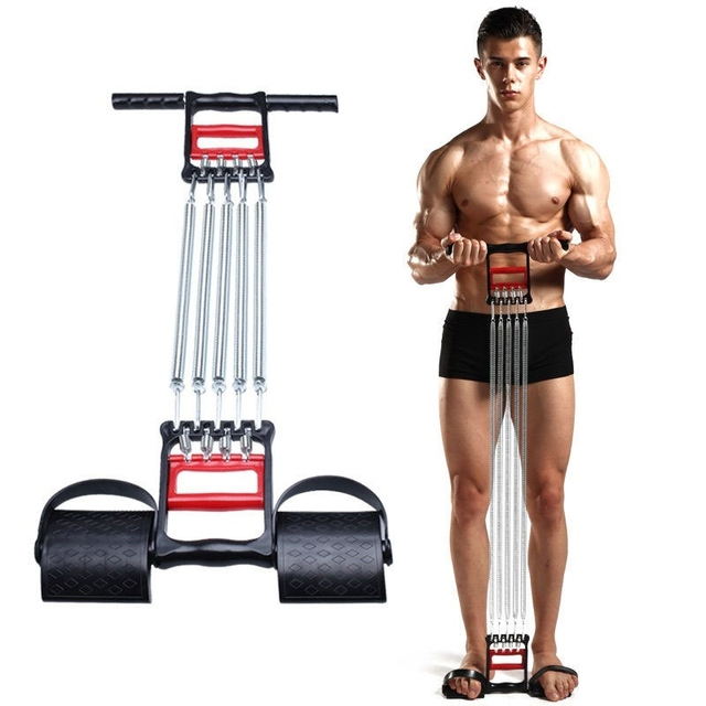 Multifunctional Tummy Trimmer Hand Gripper Sit-Ups Abdomen Pull-Up Bar Sports Spring Chest Arm Expander Puller Fitness Training