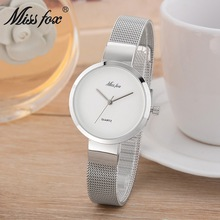 Fashion simple womens watch casual modern steel belt high-grade ladies quartz student bracelet