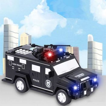 цена на Armored Car Bank Password Piggy Bank with Music and Light Electronic Money Bank Toy Car Birthday Gifts for Kids