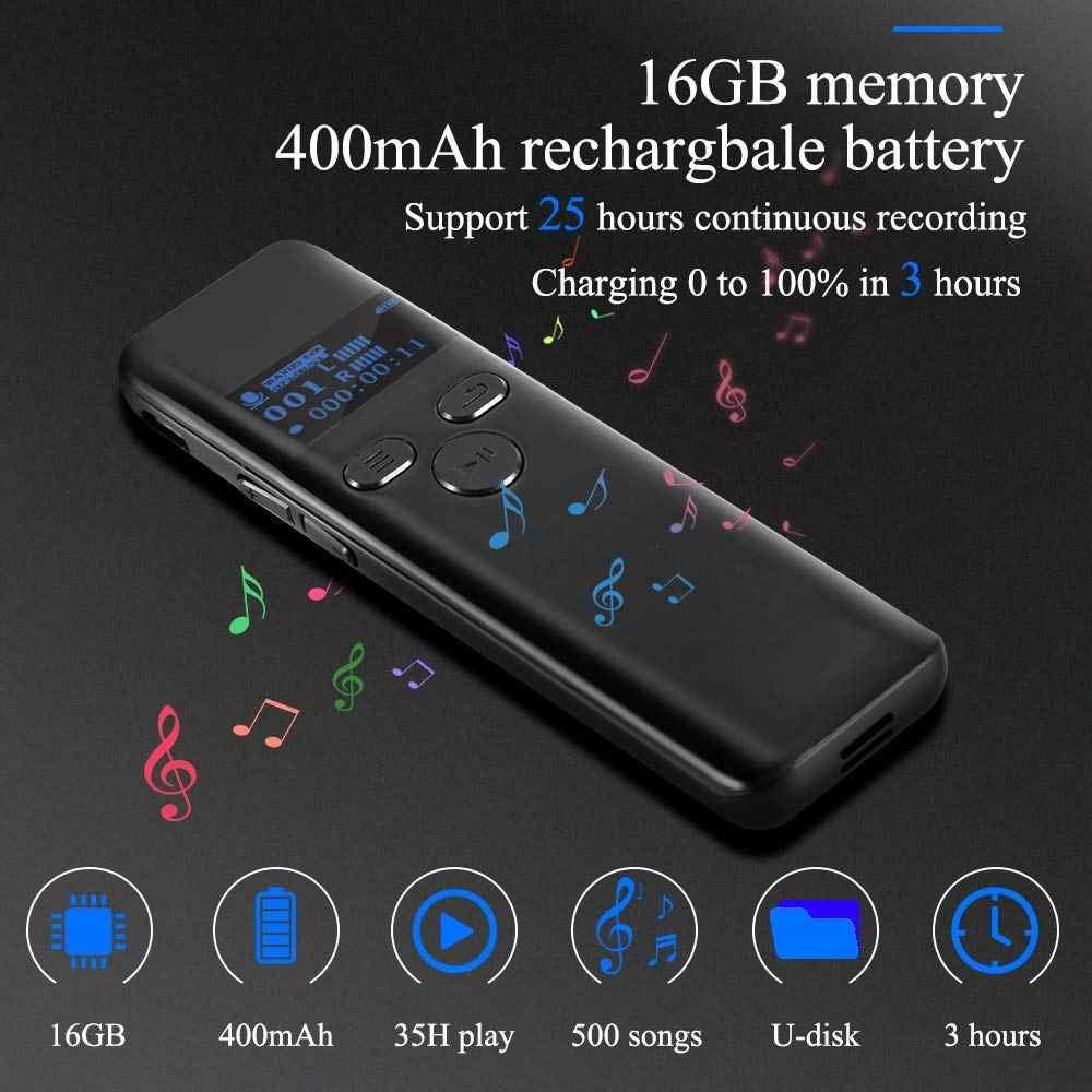 16GB 32G dijital ses aktif kaydedici dersler için 1160 H ses ses kaydedici kulaklık kayıt cihazı MP3 oyuncu v92