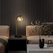 Скандинавская Хрустальная настольная лампа, декоративный ночсветильник из золотистой латуни для спальни, гостиной, кабинета, стеклянного ...