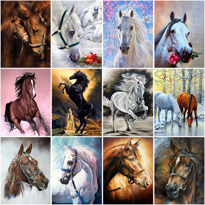 Horse 5D Diamond Painting DIY Embroidery Cross Stitch Home Decor Needlework Gift