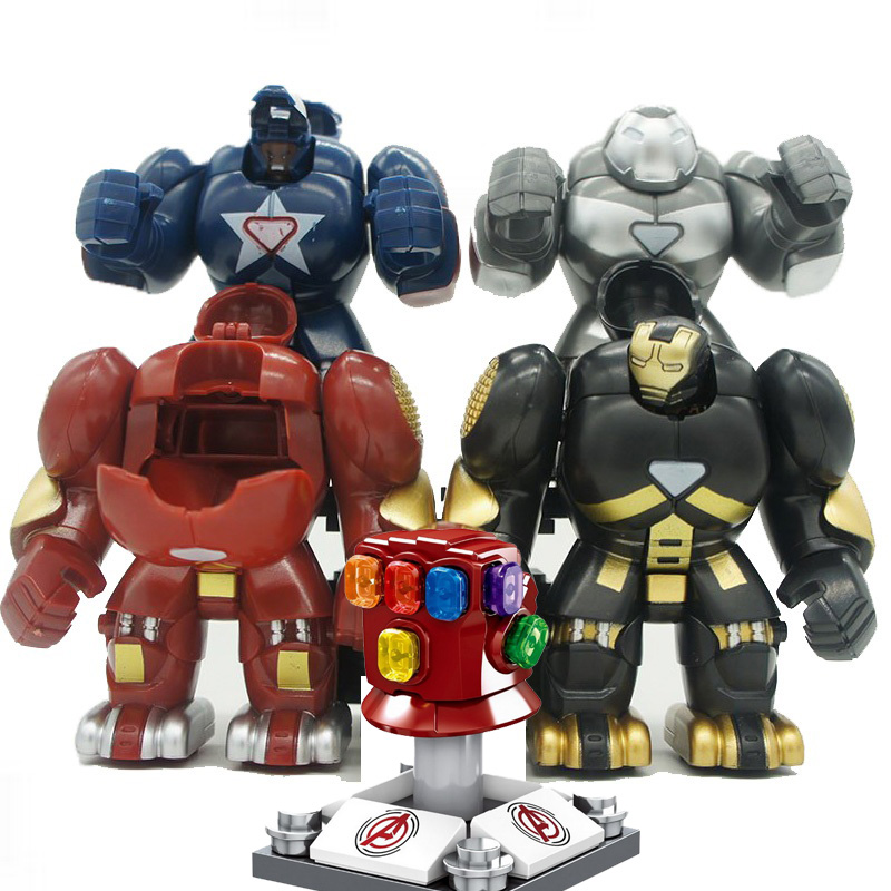 ML-K44 Iron Man Hulkbusters Model Figure Blocks Construction Building Bricks Toys For Children(China)