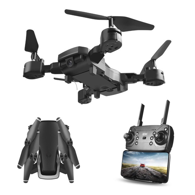 Folding Drone 4K HD Wide-angle Camera Aerial WiFi Quadcopter Altitude Hold Long Battery Life RC Helicopter Headless Mode