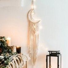 Attrape-rêves fait à la main, carillon à vent, pendentif artisanal, décoration de chambre à coucher suspendue de voiture, cadeau artisanal