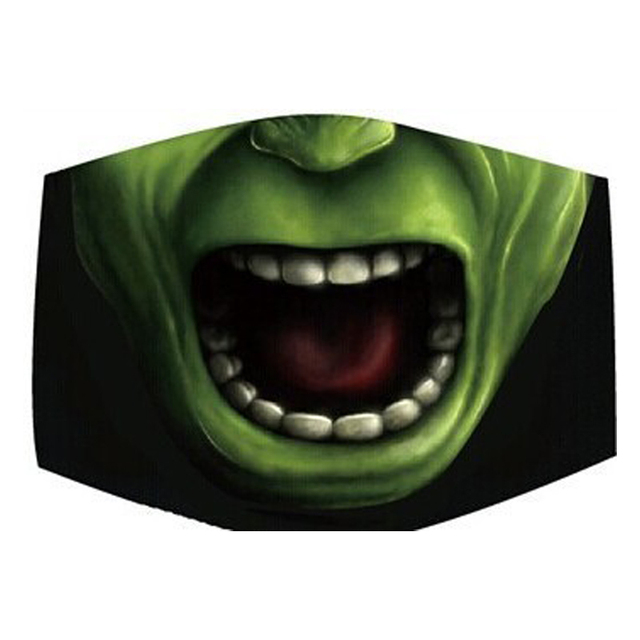 Funny Creative Vampire Smile Unisex Face Mask PM2.5 Flu Dust Shield Toothy Animal Monster Mouth Masks for Men Disposable Cover 1