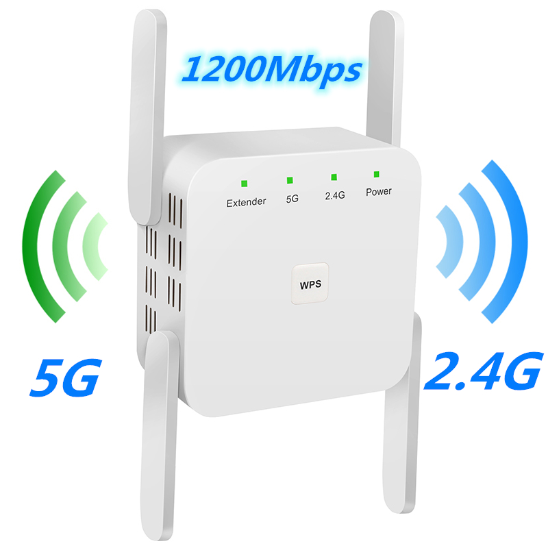 5G Wifi Repeater 5Ghz Wifi Extender AC 1200Mbps Router Wifi Amplifier Wireless Wi-fi Long Range Booster 2.4G Wi Fi Repiter