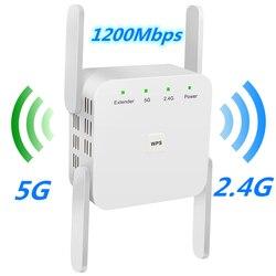 5G Wifi tekrarlayıcı 5Ghz Wifi genişletici AC 1200Mbps yönlendirici Wifi amplifikatör kablosuz wi-fi uzun menzilli güçlendirici 2.4G wi fi Repiter