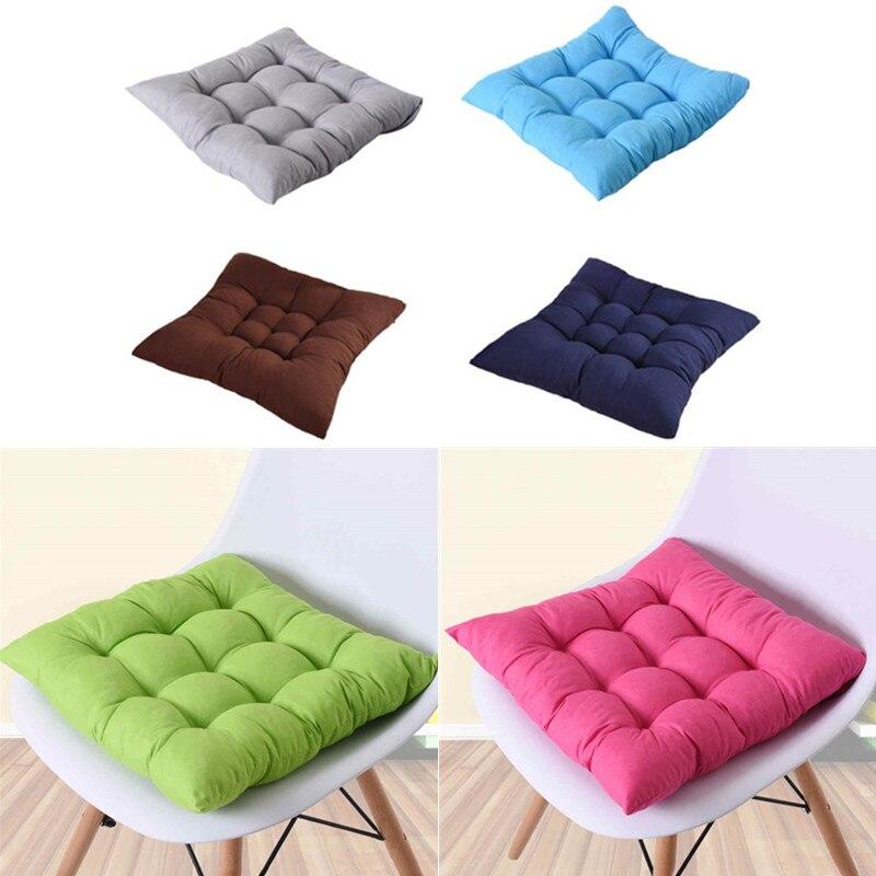 1Pc Japan Style Home Seat Cushion Pad Winter Office Bar Chair Back Seat Cushions Sofa Pillow Buttocks Chair Cushion 40*40cm
