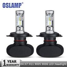 Oslamp H4 Hi lo רכב LED פנס נורות H7 H11 9005 9006 50W 8000LM 6500K CSP Led אוטומטי פנס LED מנורת תאורת הנורה 12v 24v