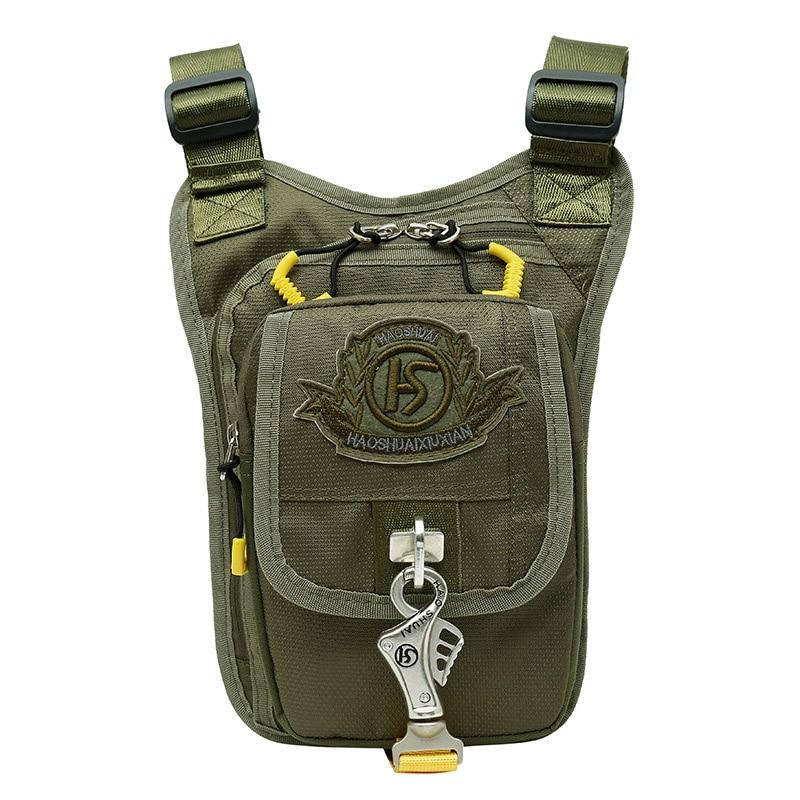 Men's Waterproof Nylon Leg Bag Drop Fanny Waist Pack Thigh Belt Hip Bum Bag Military Travel Cross Body Messenger Shoulder Bags