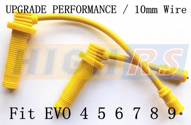 2 성능 점화 코일 팩 스파크 케이블 리드 연결 1996 2006 LANCER EVO 4 5 6 7 8 9 JDM MD363552 4G63