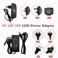 Постоянный ток, 5 В, 12 В, 24 В постоянного тока, 1A 2A 3A 5V 6A 7A 8A 10A Мощность Источник питания переменного тока 100-240V для 5050 3528 5630 Светодиодные ленты с...