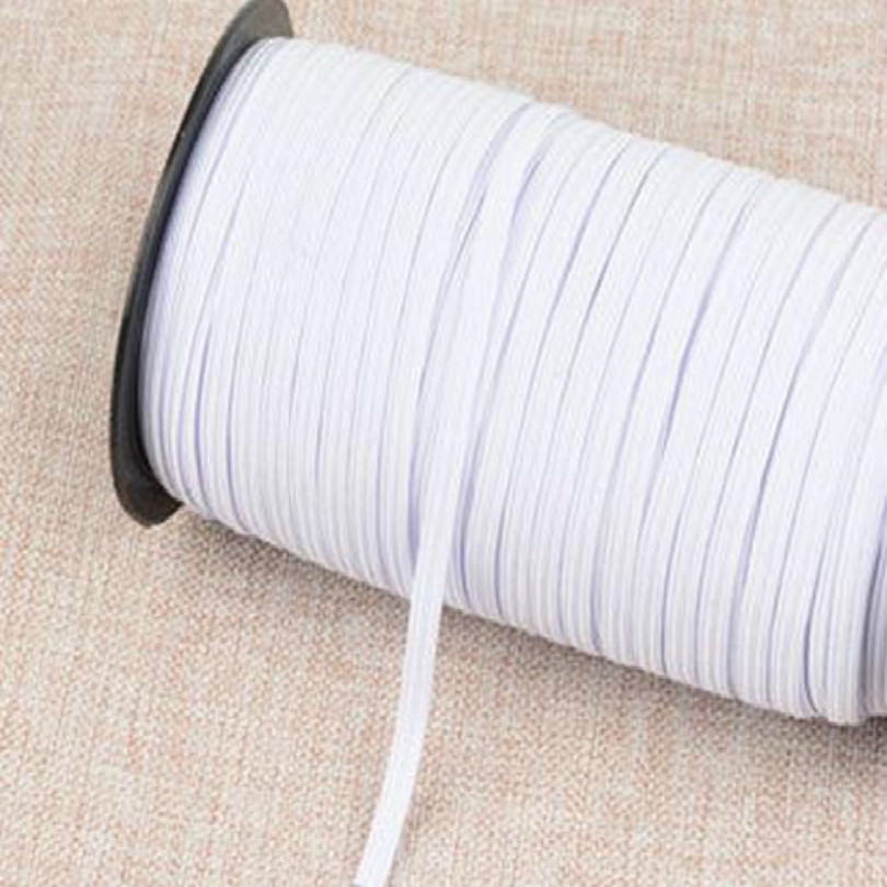 DIY Disposable mask material Protective mask W 3mm fold over elastic band sewing elastic ribbon elastic cord bands freeshipping