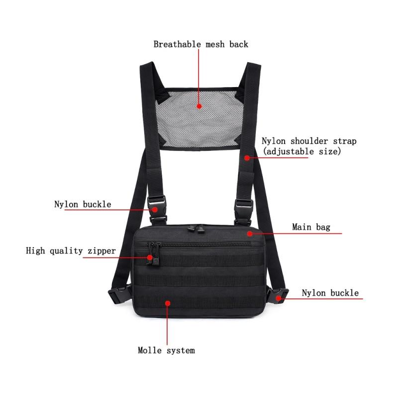 1000D нейлоновые мужские сумки для охоты на открытом воздухе, регулируемые многофункциональные тактические сумки на плечо, сумки на пояс, жил...