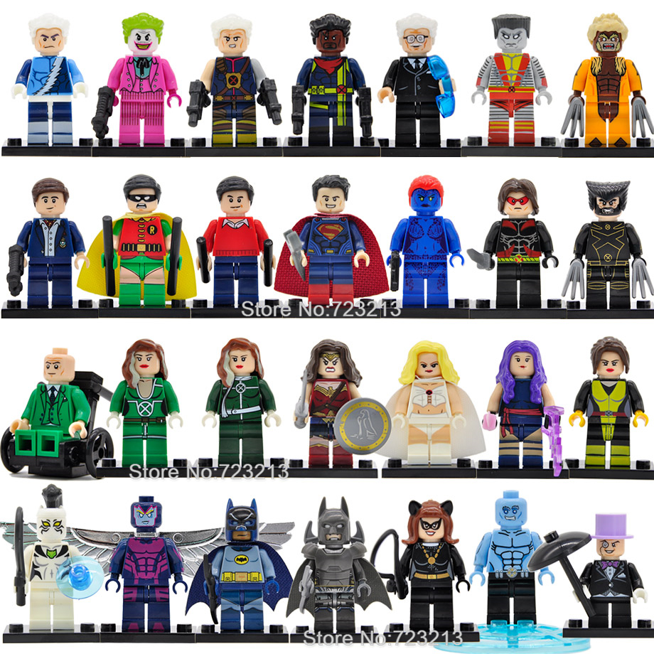 Single Super Hero Figure Iceman X-Men Professor X Kitty Pryde White Queen Tiger Archangel Psylocke Building Blocks Bricks Toys