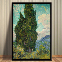Vincent Van Gogh Cypresses Oil Painting on Canvas Posters and Prints Cuadros Wall Art Pictures For Living Room van gogh starry night oil painting on canvas posters and prints cuadros wall art decorative pictures for living room home decor