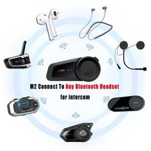 Image 2 - MAXTO M2 오토바이 헬멧 헤드셋 6 라이더 그룹 말하는 인터폰 블루투스 5.0 FM 라디오 모든 헤드폰 이어폰과 호환 가능
