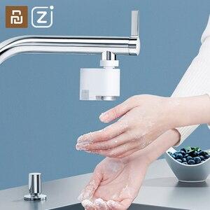 Image 1 - Xiaomi Zanjia su tasarrufu akıllı kızılötesi indüksiyon su musluk anti taşma döner kafa su tasarrufu memesi musluk