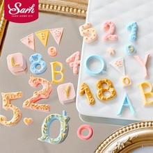 新スタイル手紙ナンバー形状フォンダンケーキ金型ベーカリー型sugarcraft装飾ツール